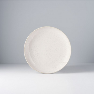 White Fade Shallow Plate