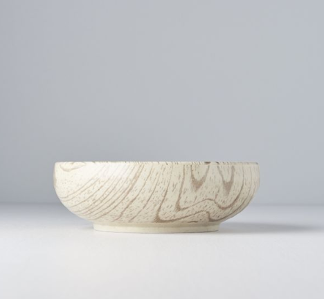 Light Faux Wood Thick Bowl