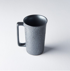 Black Scroll Large Mug