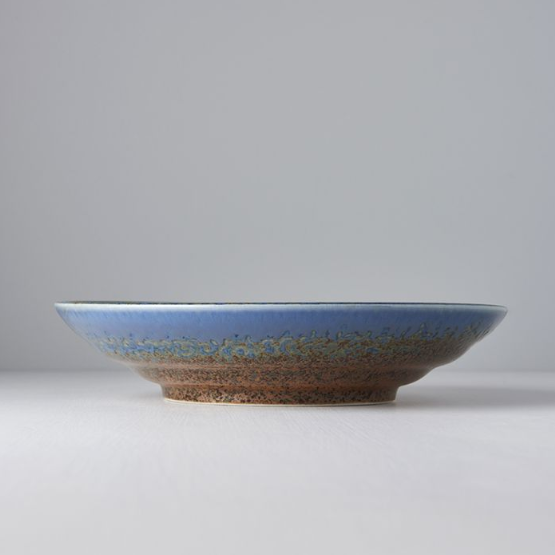Earth & Sky Flat Serving Bowl
