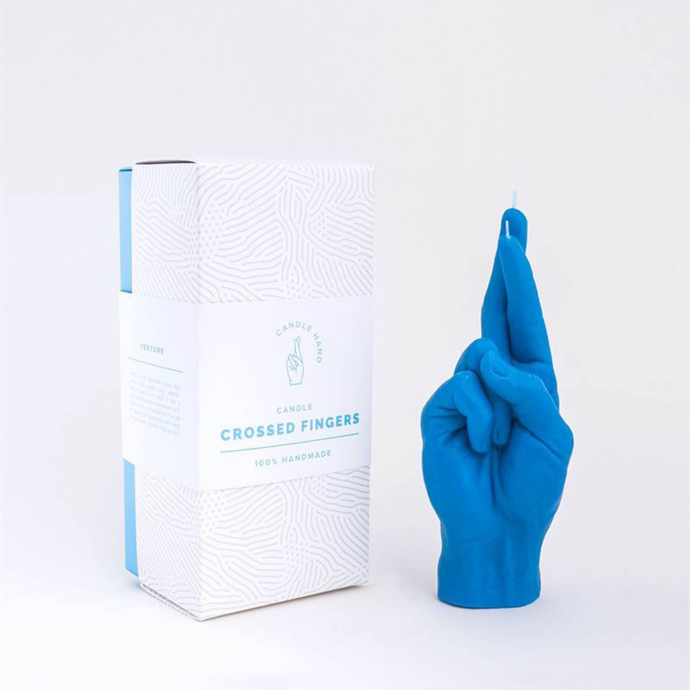 CandleHand - Crossed Fingers in Blue