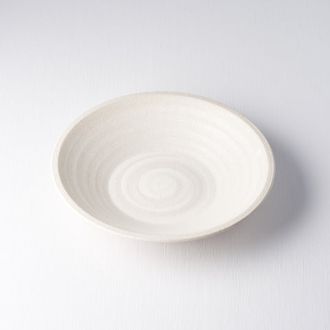 Recycled White Large Shallow Bowl