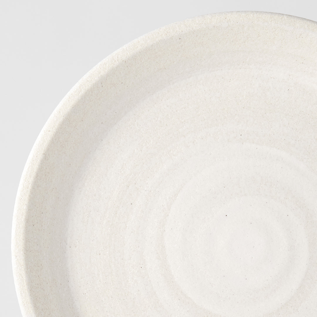 Recycled White Plate with Rim