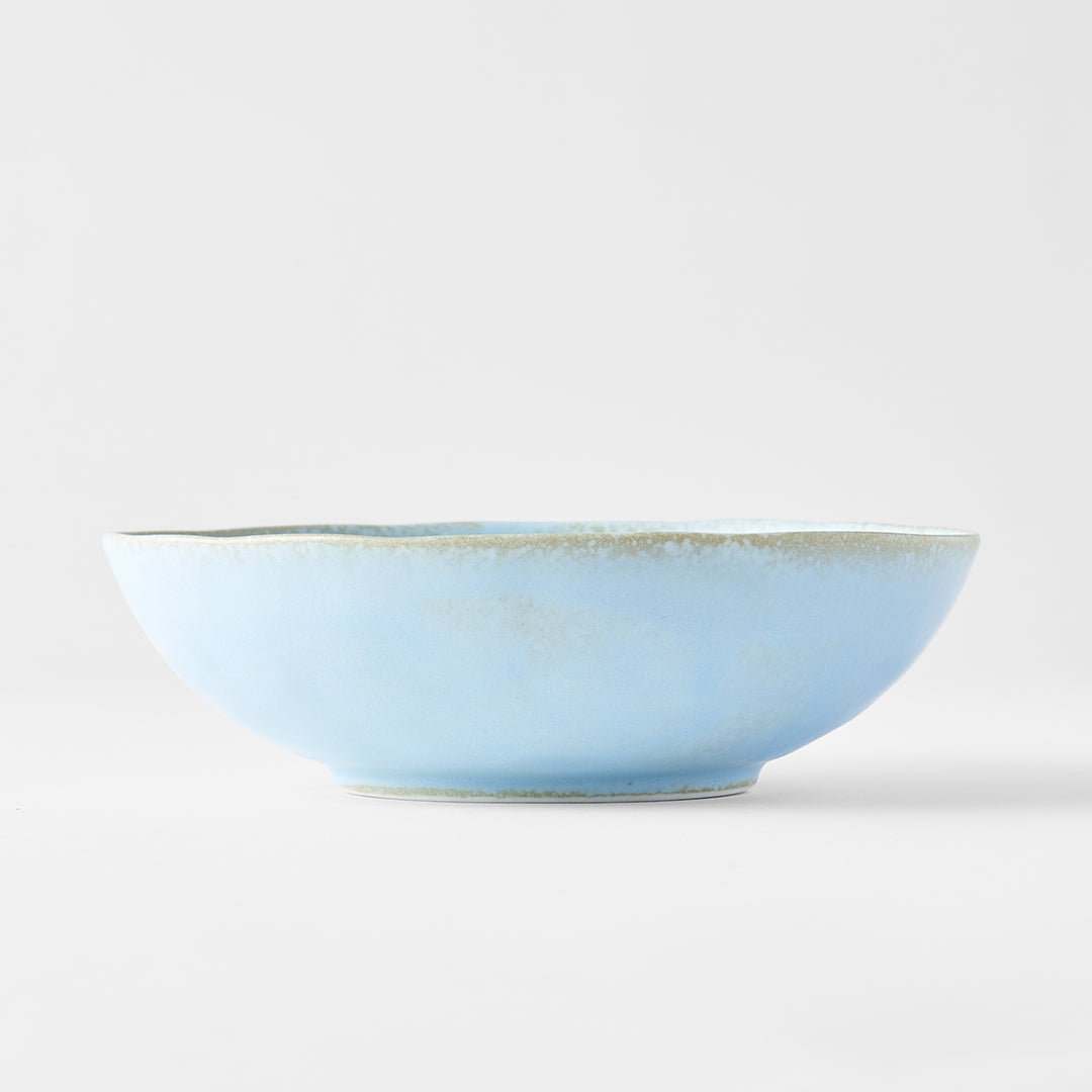 Soda Blue Medium Open Oval Bowl