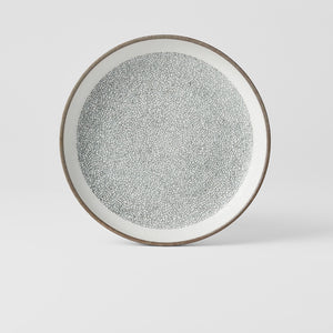 Crazed Grey High Rim Plate