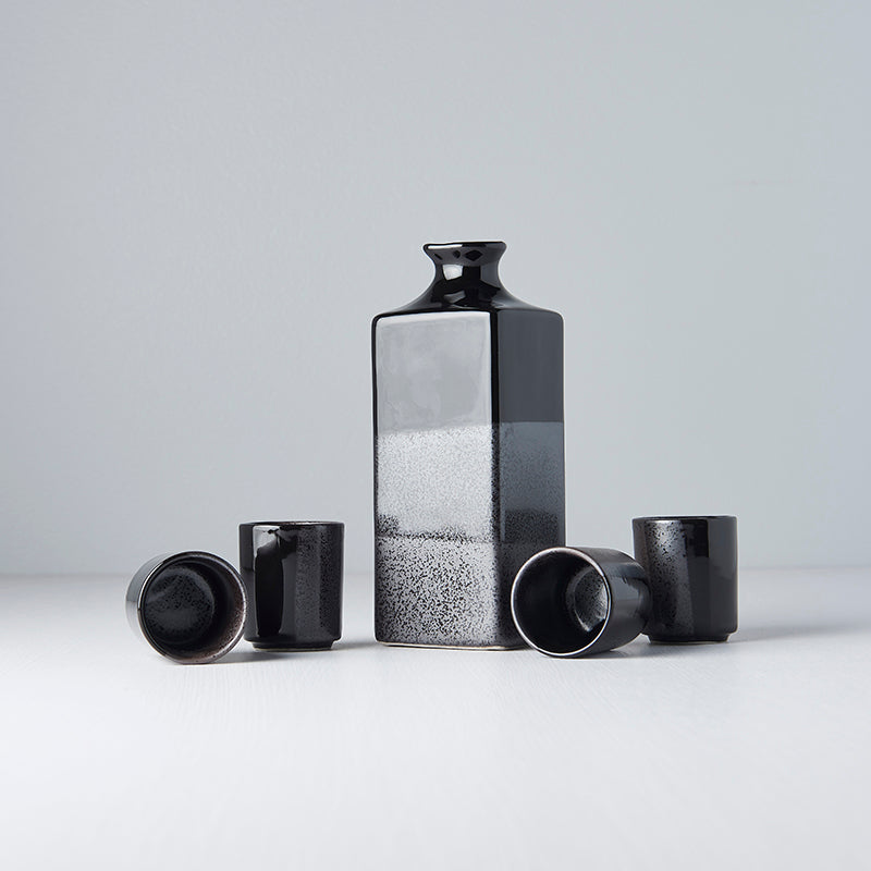 Gunmetal & Black Square Sake Set