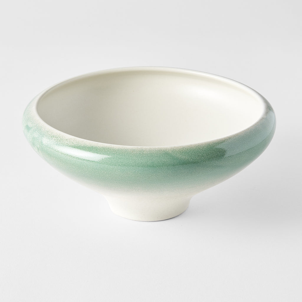 Faded Green Ikebana Umbrella Shaped Bowl