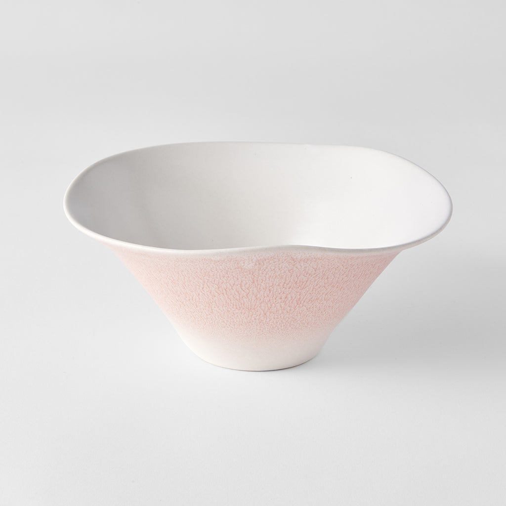 Faded Pink Ikebana Organic Shaped Bowl