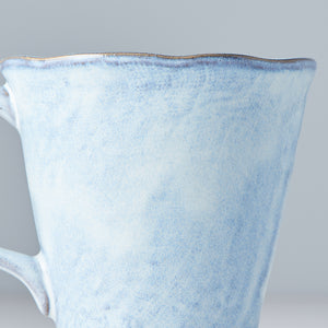 Mauve Blue Mug with Handle