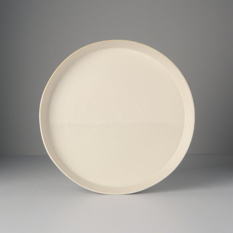 Craft White High Rim Plate