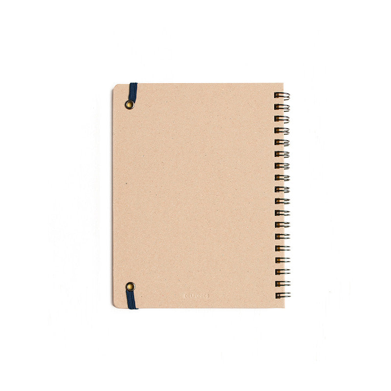 'ANTOLPO' Rollbahn Spiral Bound Notebook in Light Yellow - Delfonics