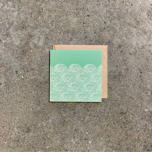 Wave on Green Greeting Card