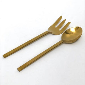 Phoenix Serving Fork in Gold