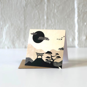 Japanese Scenery Greeting Card