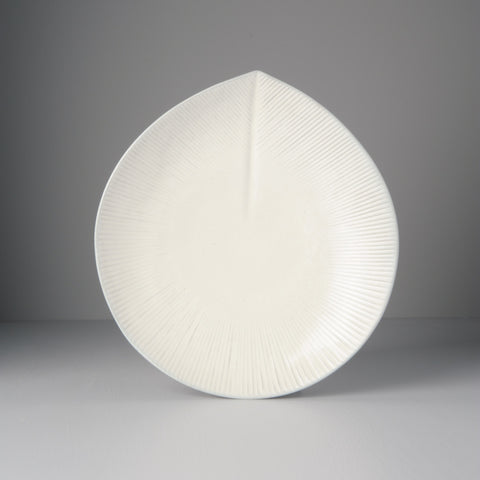 Snow Leaf Large Round Plate