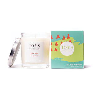 Joys of New Zealand Lime, Basil & Mandarin Luxe Candle