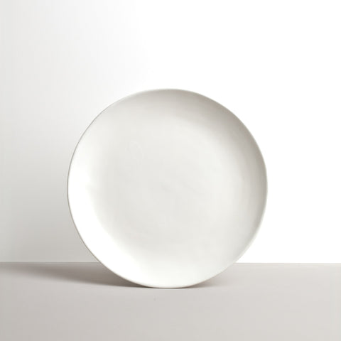 Matte White Offcentre Dinner Plate