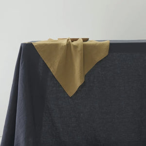 Pure Linen Napkin Set of 4 - Mustard