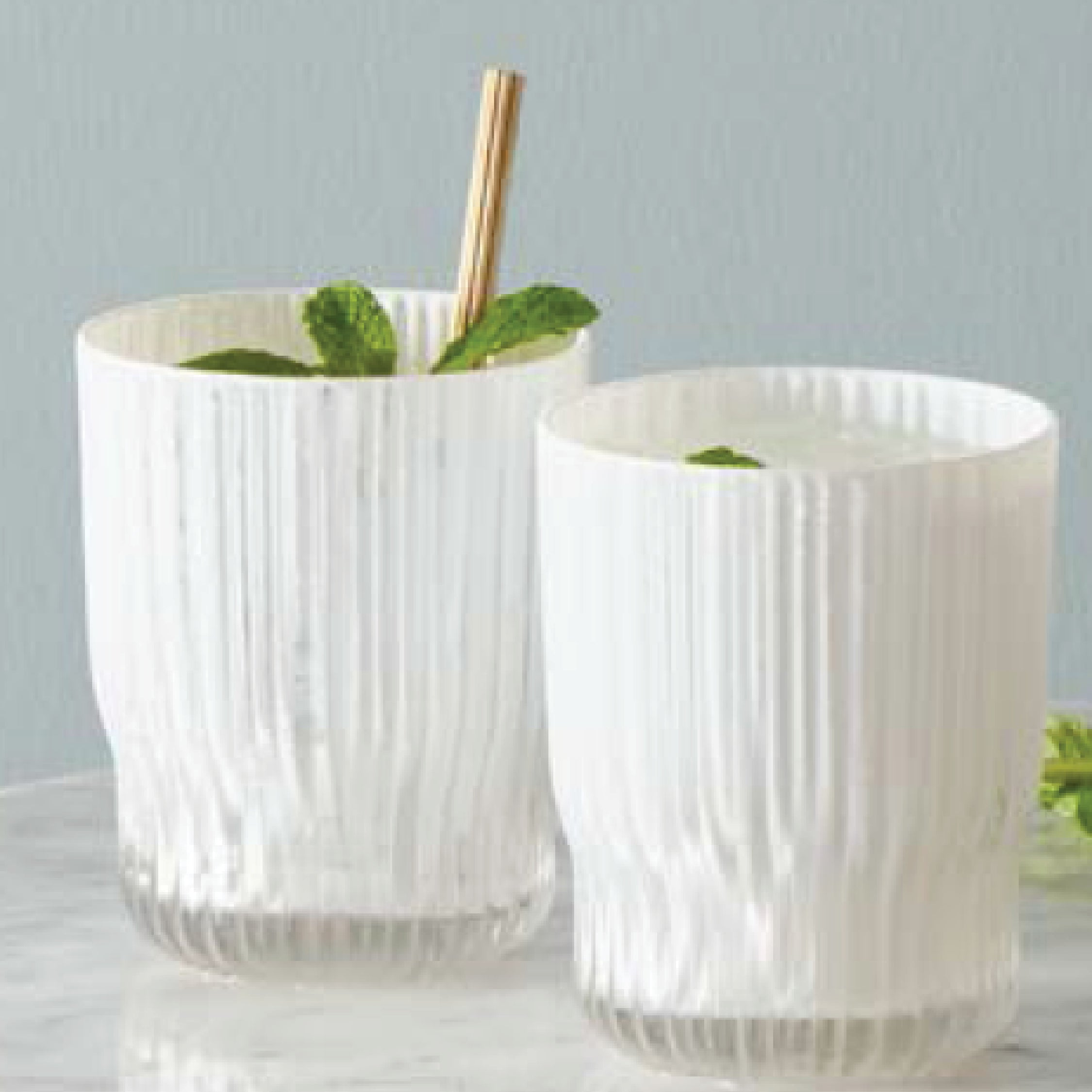 Milano Glass Tumbler in White Set of 4