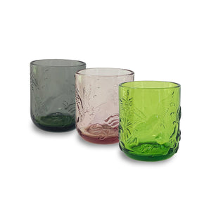 Dawn Rainforest Glass Pink Tumbler