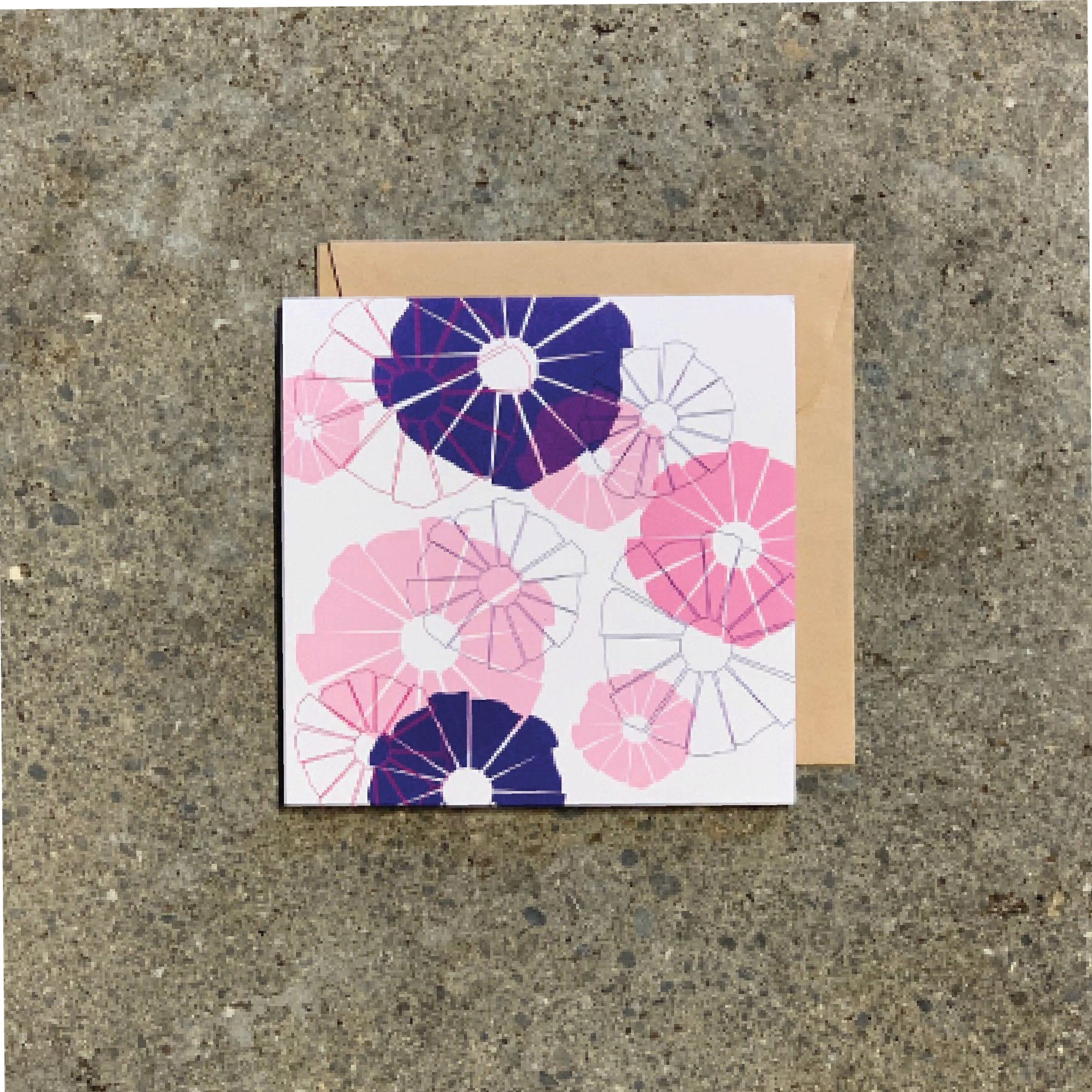 Naibu Pink on White Greeting card