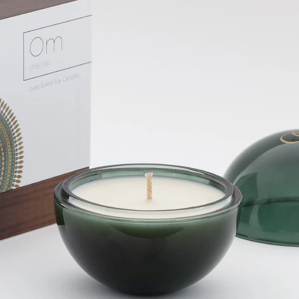 Only Orb OM - Fig & Teak Candle in Emerald Glass Orb