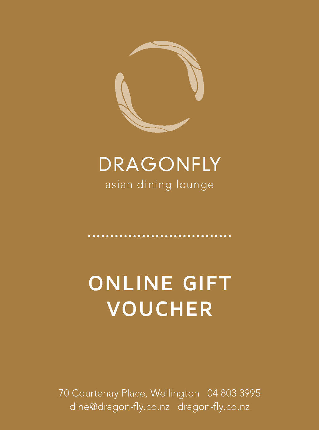 Dragonfly Wellington Gift Card