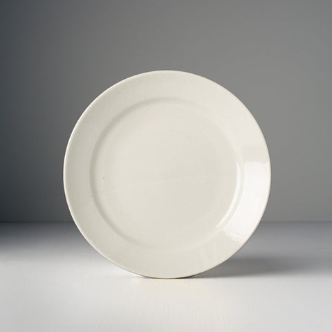 Off White Plate With Rim