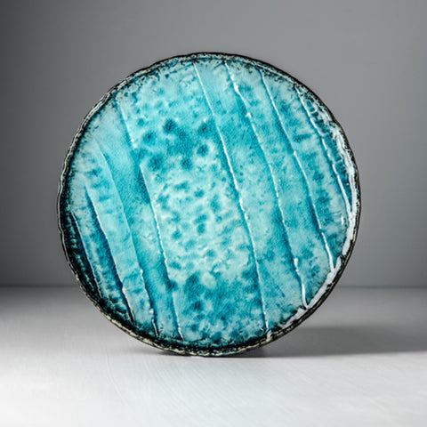 Sky Blue Round Flat Plate