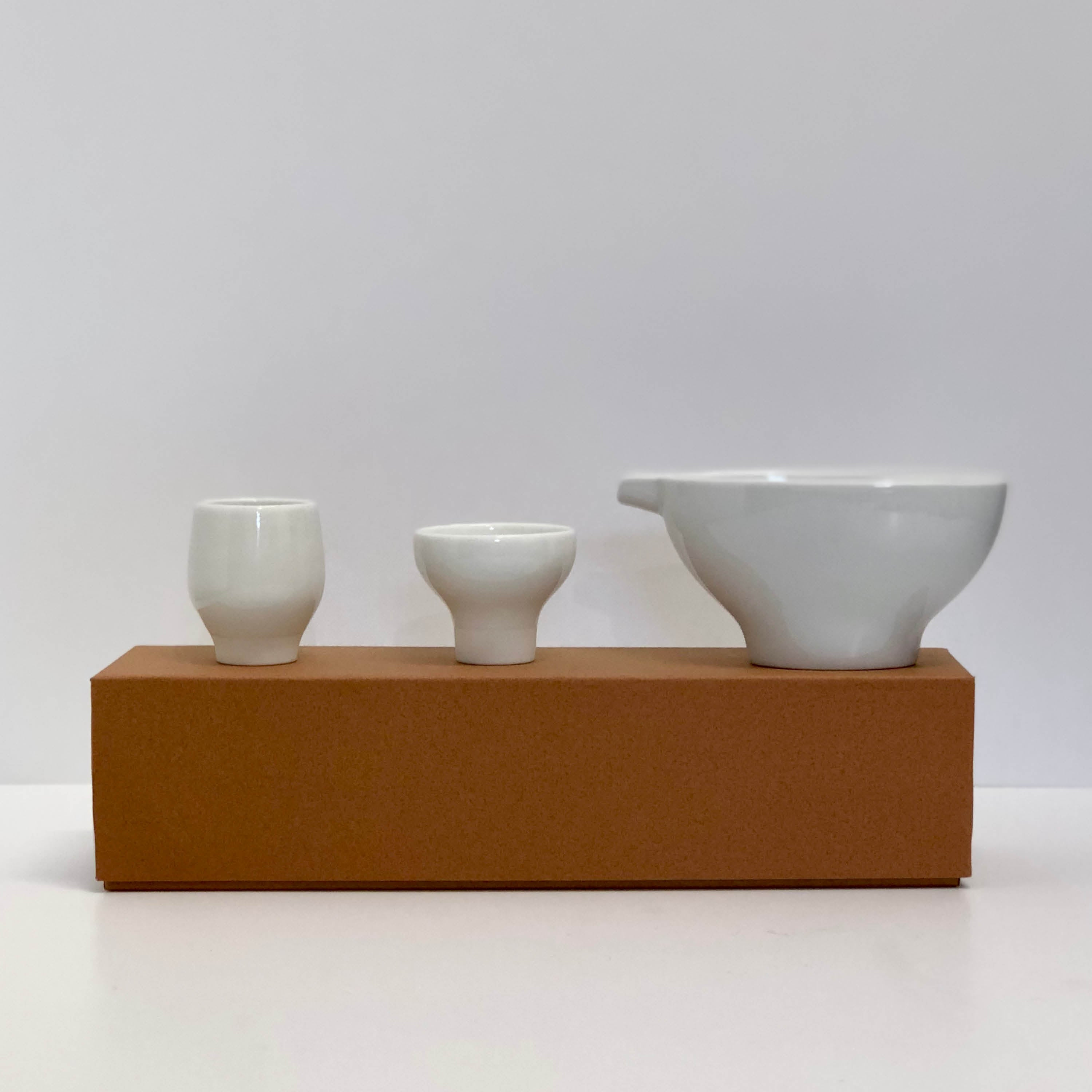 Gloss White Freeform Sake Set