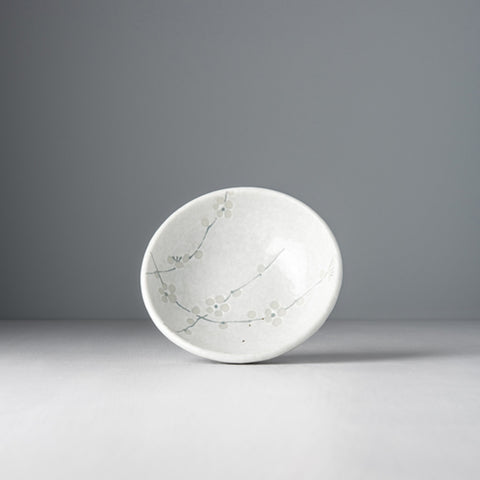 White Blossom Small Shallow Bowl