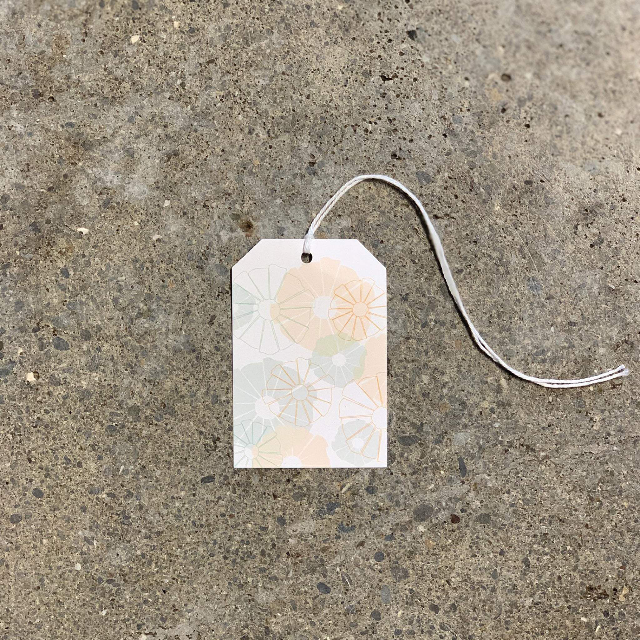 Teal Naibu on White Gift Tag