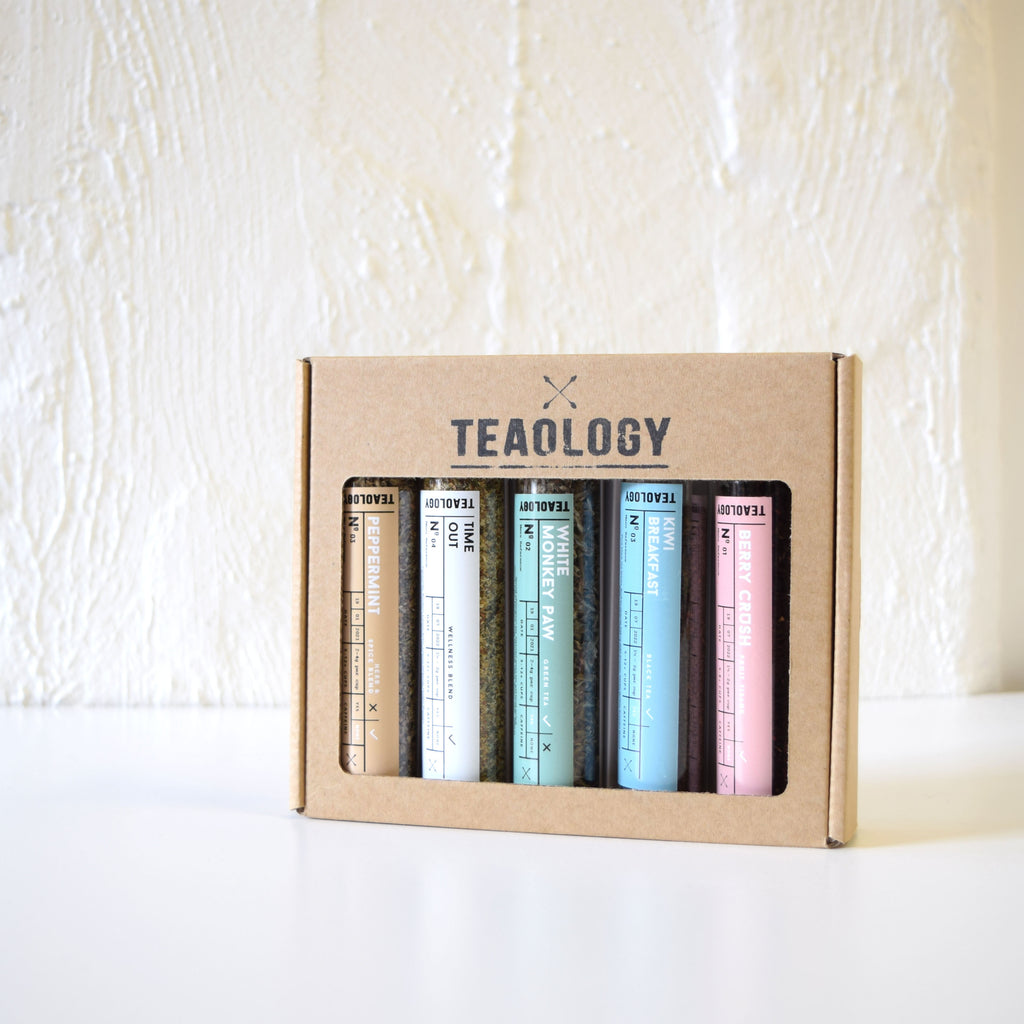 Teaology 5 Vial Tea Gift Box