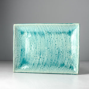 Turquoise Rectangle Plate