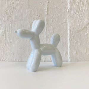 Resin Balloon Dog in White