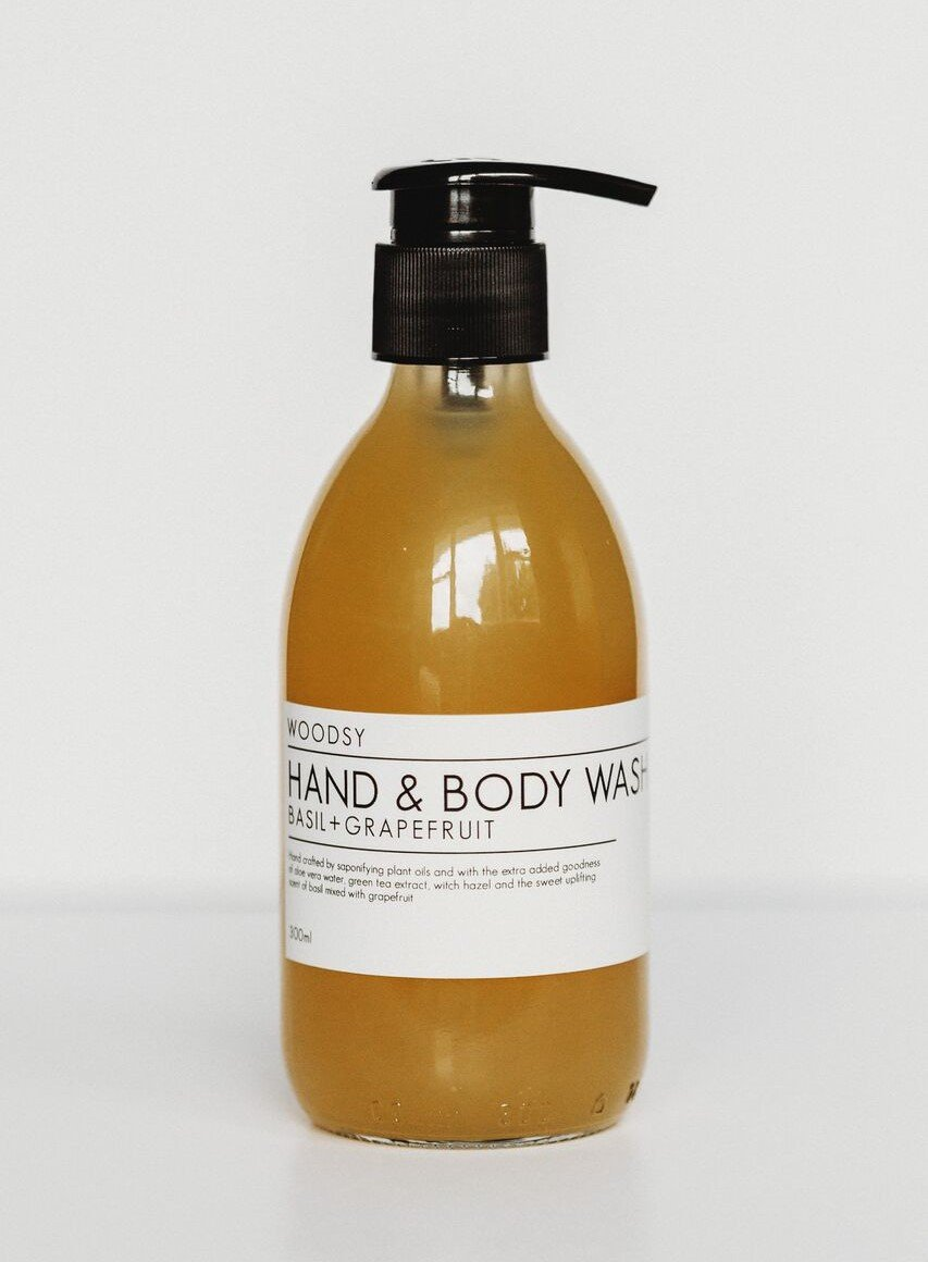 Basil & Grapefruit Hand & Body Wash - Woodsy Botanics