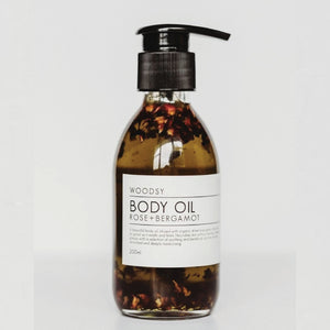 Rose & Bergamot Body Oil - Woodsy Botanics