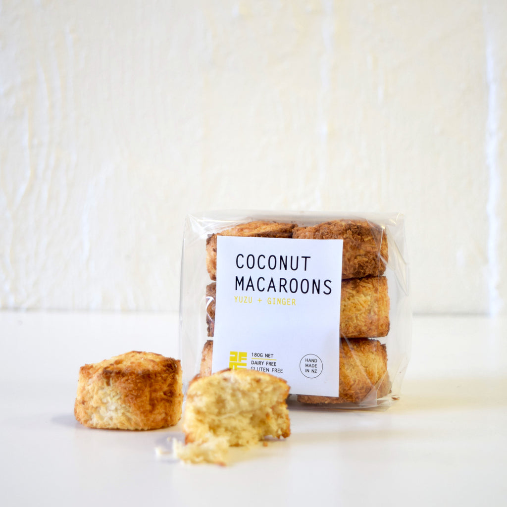 Coconut Macaroons with Yuzu & Ginger