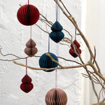 Navy Round Paper Hanging Decoration