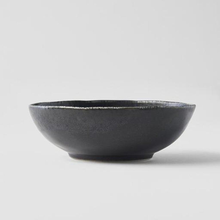 BB Black Small Open Oval Bowl