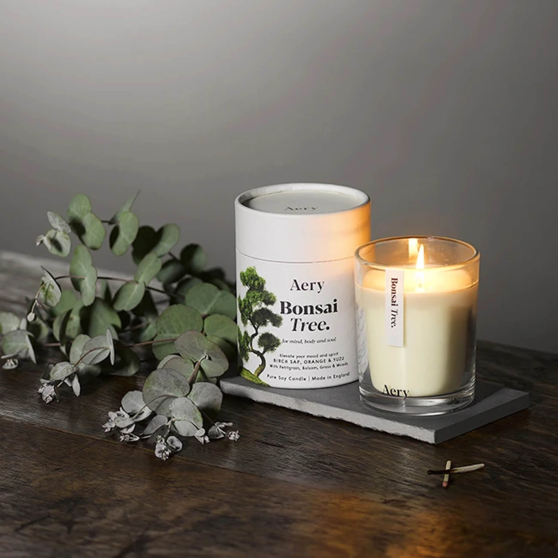 Aery Living Scented Candle - Bonsai Tree