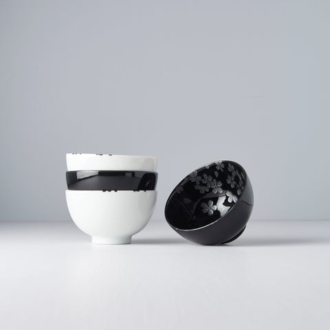 Black & White Sakura Bowl Set