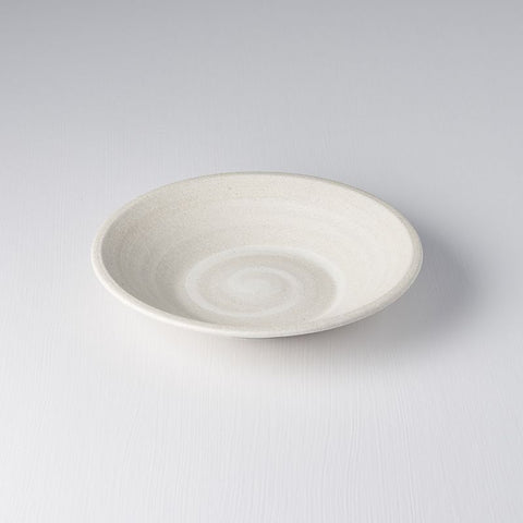 Recycled White Shallow Bowl
