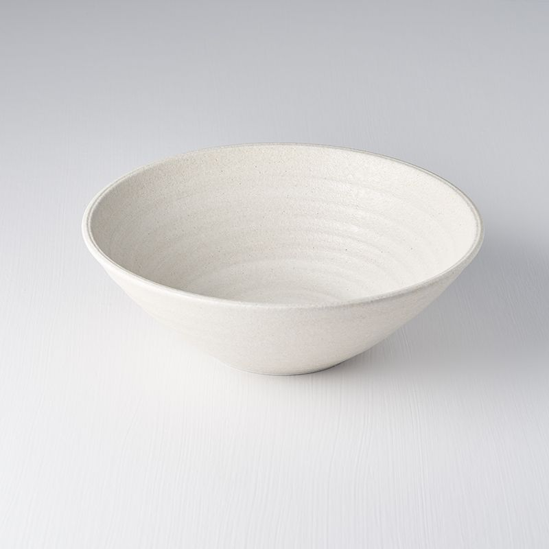 Recycled White Large U Shape Bowl