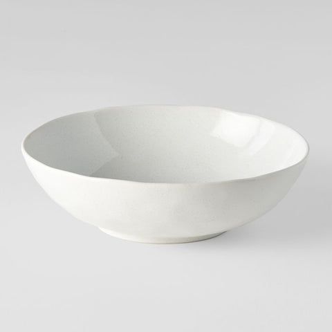 Parchment Medium Open Oval Bowl
