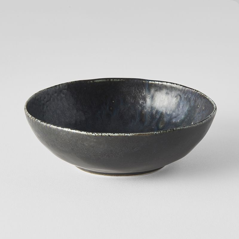 BB Black Open Oval Bowl
