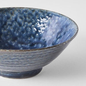 Midnight Blue V-Shape Udon Bowl