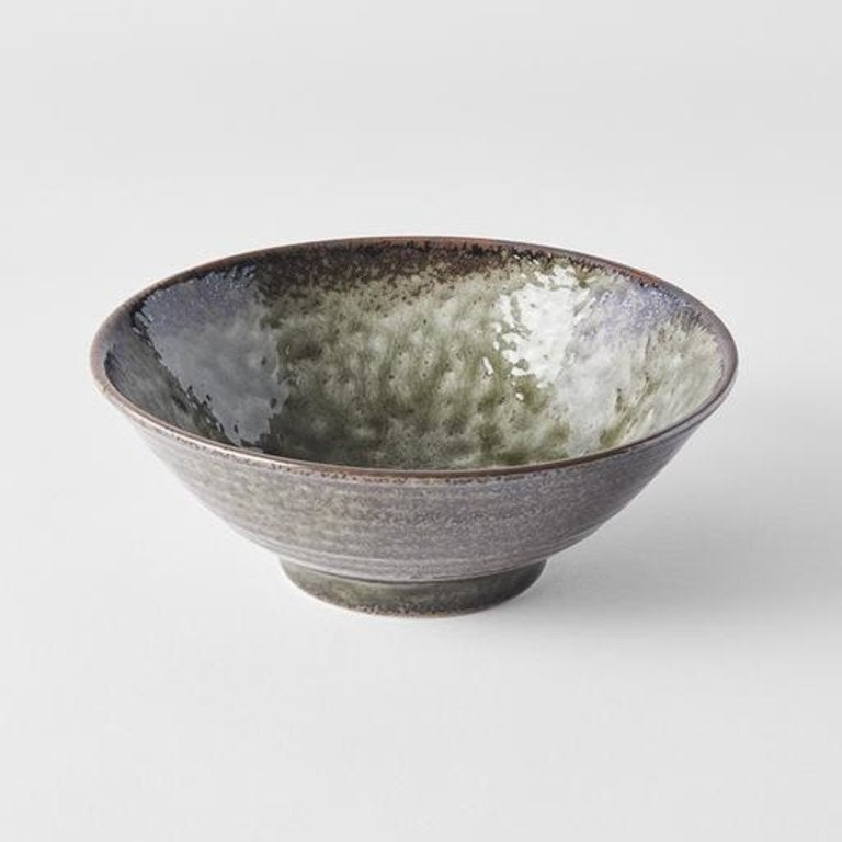 Earthy Green V-Shape Udon Bowl