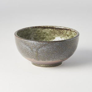 Earthy Green Round Deep Bowl