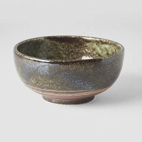 Earthy Green Large Round Deep Bowl